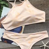 Cupshe Stealing Beauty Petal Bikini Set