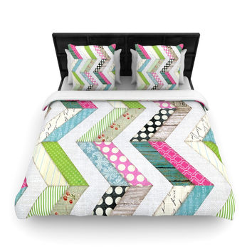 """Heidi Jennings """"Fabric Much?"""" Colored Cloth Woven Duvet Cover"""