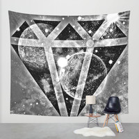Diamond in the sky Wall Tapestry by Haroulita