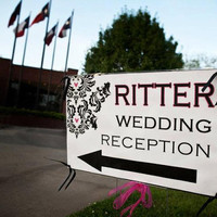 Wedding Reception Sign - Damask Customized