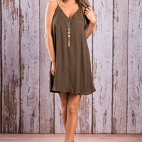 Simple Soiree Dress, Olive