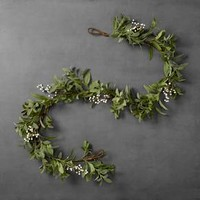 Artificial Lamb Ear/White Berry Garland (6ft) - Hearth & Hand™ with Magnolia