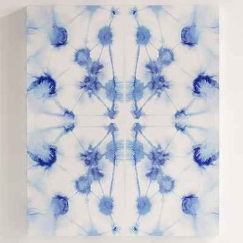 Jacqueline Maldonado For DENY Mirror Dye Blue Canvas Wall Art - Urban Outfitters