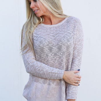Don't Make Me Blush Lightweight Sweater