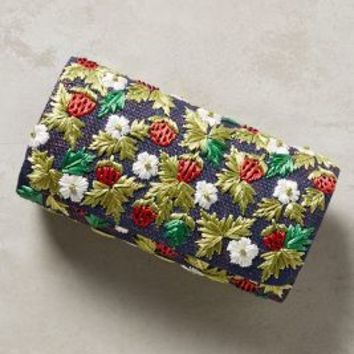 Strawberry Clutch by Anthropologie in Navy Size: One Size Clutches