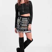 Chasing Lights Embellished Skirt By Raga