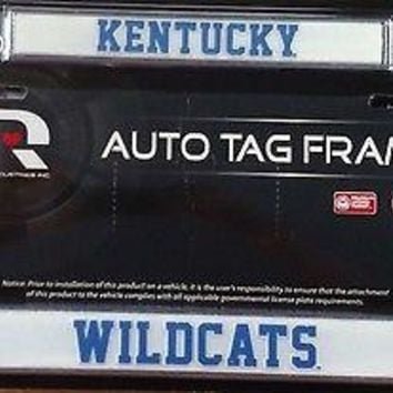 Kentucky Wildcats ND Chrome Metal License Plate Tag Frame Cover University of