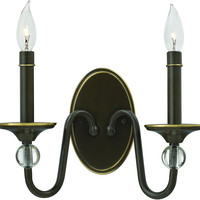 0-021634>Eleanor 2-Light Wall Sconce Light Oiled Bronze