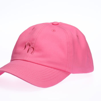 Tickle Me Pink - Ponytail Baseball Cap - Zipper in the Back - Wear it Open Back or Closed Back!