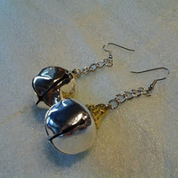 Silver Christmas Bell Earrings