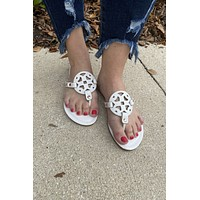 Dancing In The Streets Sandals- White