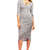 Ruche Lap Midi Dress
