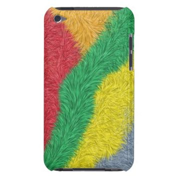 Modern multicolored furry pattern Case-Mate iPod touch case