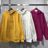 Supreme Woman Men Fashion Embroidery Hoodie Top Sweater Pullover