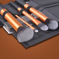 Pro Makeup 4pcs Cosmetic Brushes Set Powder Foundation Eyeshadow Brush Tool  D_L (Color: Black) = 1713251908