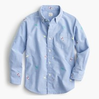 Kids' critter oxford shirt in outer space