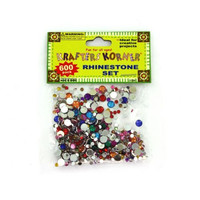 600 Piece Rhinestone Set (assorted Colors) (pack of 25)