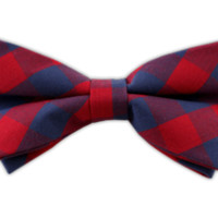 Creekside Gingham - Apple Red/Dark Blue (Cotton Bow Ties) | Ties, Bow Ties, and Pocket Squares | The Tie Bar