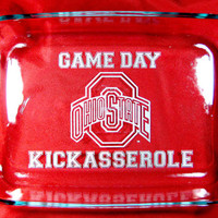 "Game Day Kickasserole, Ohio State Personalized 9""x13"" Pyrex Baking Dish"