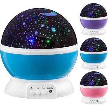 Projector Night Light LED Star Master Sky Lamp Cosmos Rotating Kid Baby Sleeping