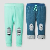 Oh Joy!® Baby Denim/Mint 2pk Pant Set - Green