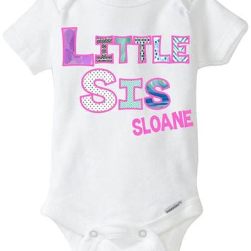 Little Sister Birth Announcement Onesuit - Coordinating Big Brother / Little Brother / Big Sister / Little Sister Onesuit & Shirt Sets