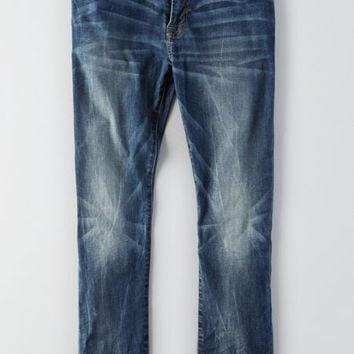 AEO Men's Slim Extreme Flex Jean (Medium Crackle)