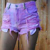 Candy Lane Distressed Shorts