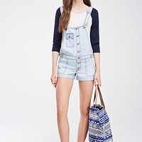 Buttoned Overall Shorts
