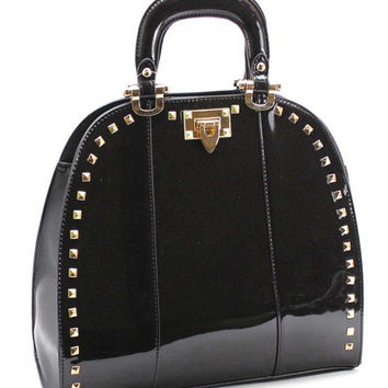 Studded Glossy Structure Bag