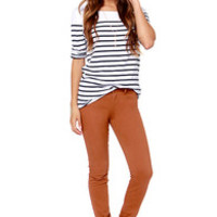 Billabong Peddler Brown Skinny Pants
