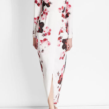 Printed Silk Blend Gown - Elie Saab | WOMEN | US STYLEBOP.COM