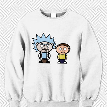 Rick and Morty cute Sweater Man and Sweater Woman