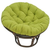 "Blazing Needles Solid Twill Papasan Chair Cushion, 52"" x 6"" x 52"", Mojito Lime"