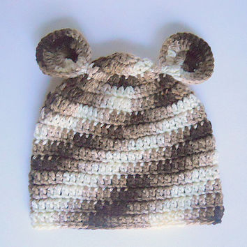 Infant Brown Camo Hat With Ears Baby Boy Winter Cap 6 To 12 Month Old Girl Fall Camouflage Beanie Hunting Skullcap