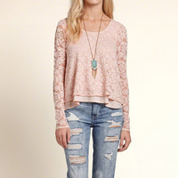 Tiered Lace Top