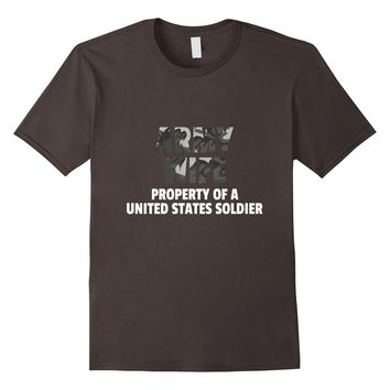 Army Wife Property Of A United States Soldier T-Shirt