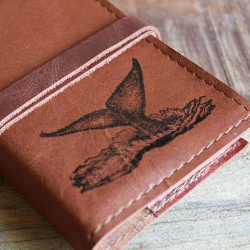 Whale Tail Leather Journal