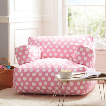 Pink Painted Dot Eco Lounger