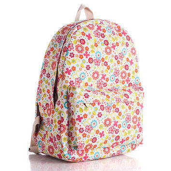 Canvas Floral Backpack = 4887878276