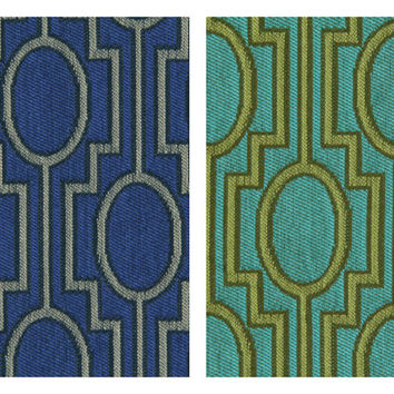 Turquoise Upholstery Fabric - Geometric Fabric by the Yard - Yellow Turquoise Fabric Yardage