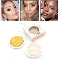 1Pc Makeup Bronzer Powder Highlighter Glow Palette Face Brightener Contour Shimmer Baked Glitter Powder Kits Cosmetic MISS Rose