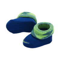Nike Knurling Dazzle Cuffed Newborn Booties (2 Pair) Size 0-6M (Blue)