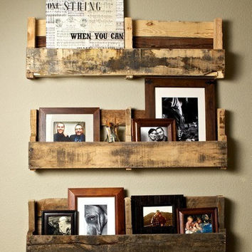 Recycled Pallet Shelves