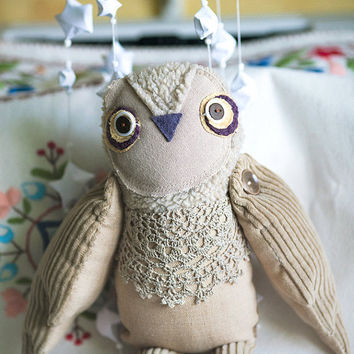 July Sale. It was 60 USD and now is 50 USD. Owly owl's  cousin, soft  art toy by Wassupbrothers