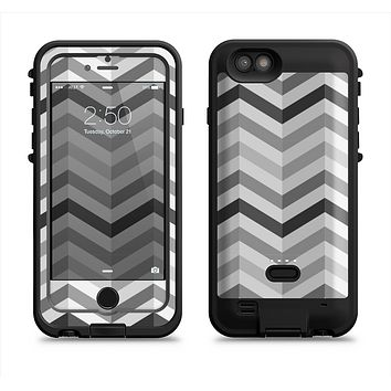 The Grayscale Gradient Chevron Zigzag Pattern Apple iPhone 6/6s LifeProof Fre POWER Case Skin Set