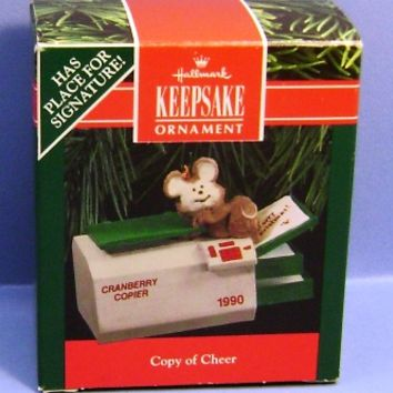 1990 Copy of Cheer Hallmark Retired Ornament