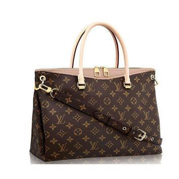 Authentic Louis Vuitton Monogram Canvas Pallas Handbag Dune Article: M50066 Made In France - Beauty Ticks