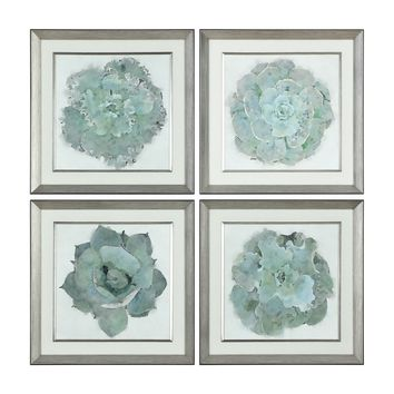 Natural Beauties Botanical Framed Prints - Set of 4 by Uttermost