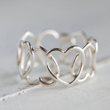 Heart  Ring Sterling Silver Stacking